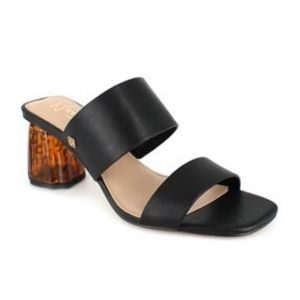 Nanette Lepore  Elilie black block acrilic heel